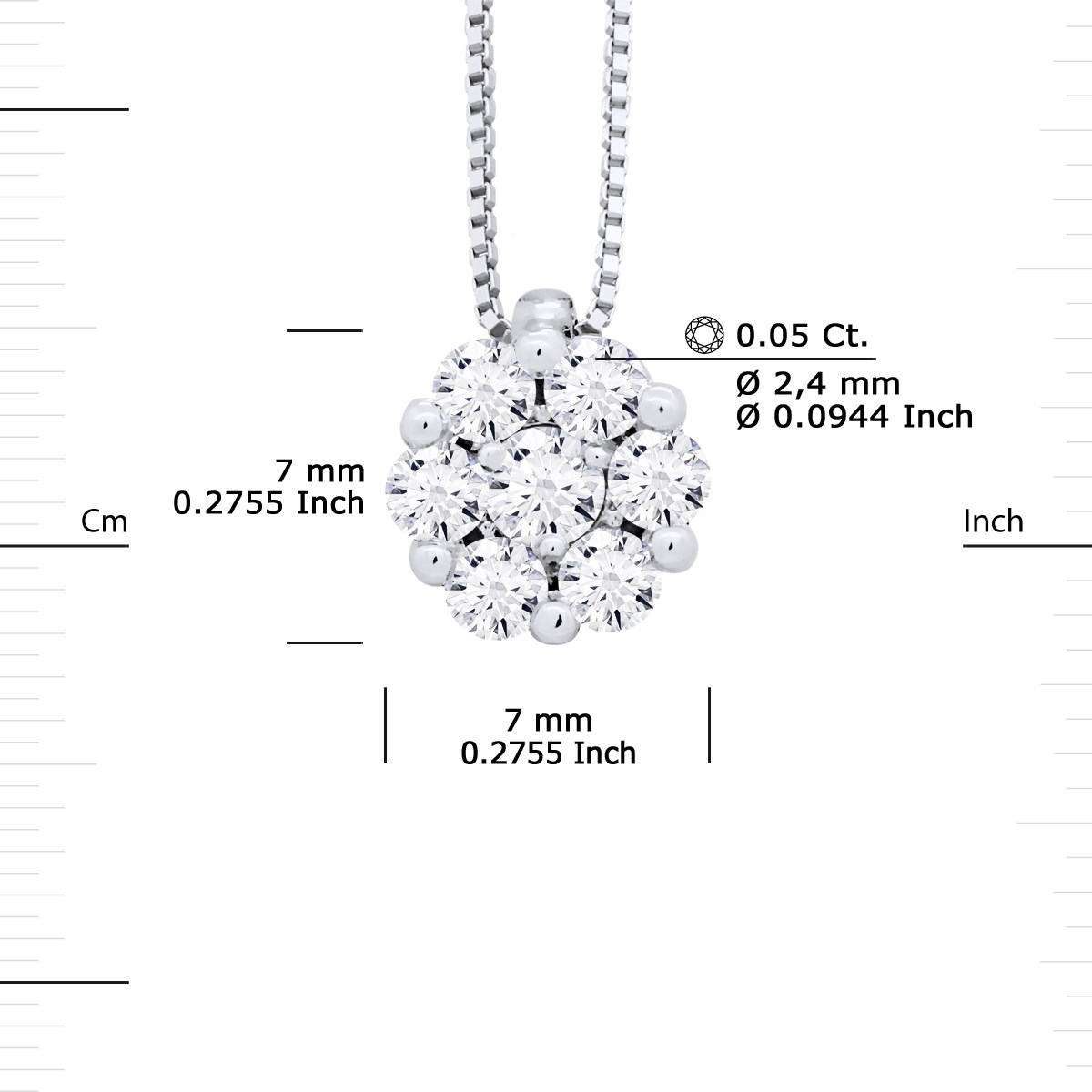 Collier Solitaire Joaillerie Prestige - Diamants - Or Blanc - vue V3