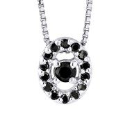 Collier Diamant - Or Blanc 9 Carats