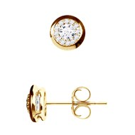 Boucles d'Oreilles Diamants - Or Jaune