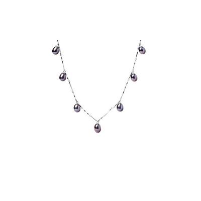 6ee34ecfda1 Collier Ras du cou Femme 7 Perles de culture d eau douce Pendantes Blanc ou