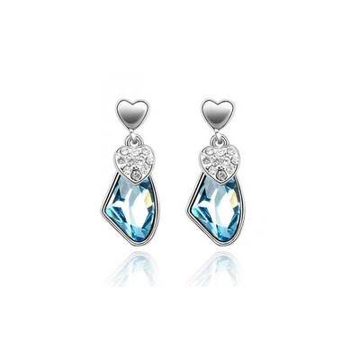 boucle d'oreille cristal bleu