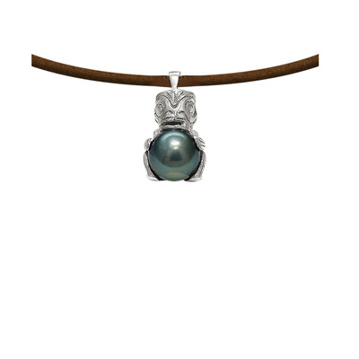 collier homme perle