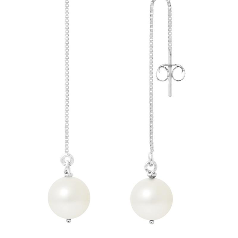 boucles d'oreilles pendantes perle de culture