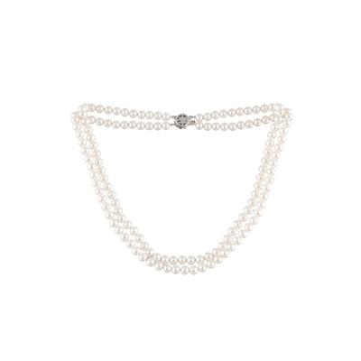 collier perle 2 rangs