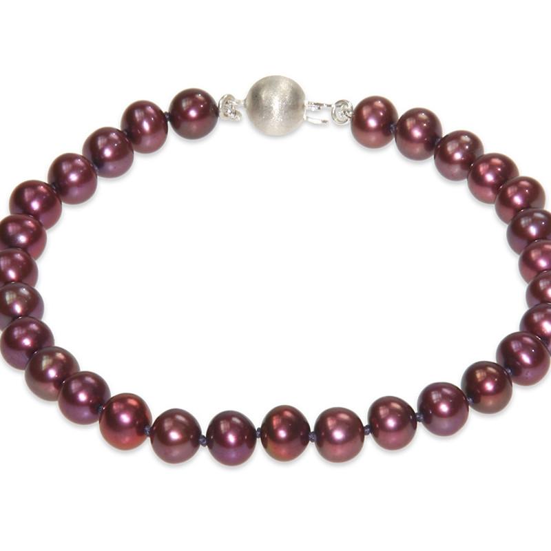 bracelet femme perles rouges