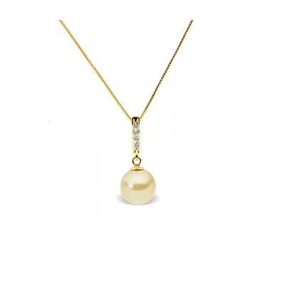 7e585e2d7a9 Collier Pendentif Perle de Culture d eau douce Dorée
