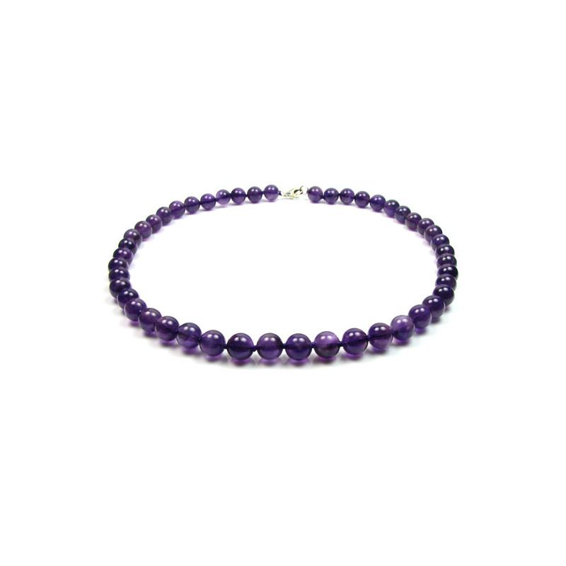 collier femme violet