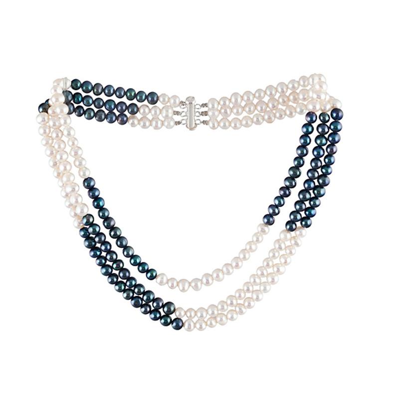 collier perle 3 rangs mariage