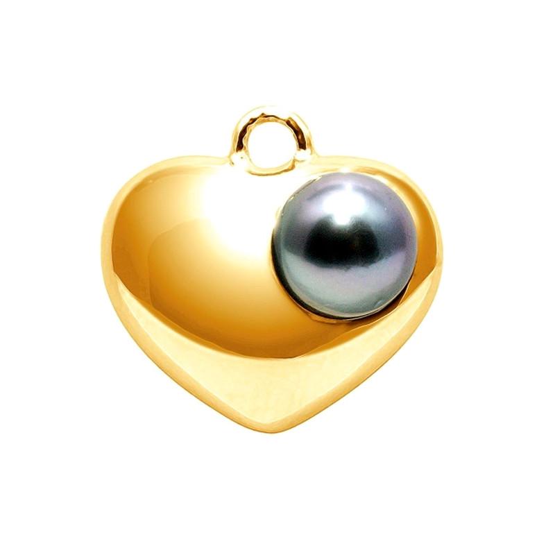collier coeur et perle