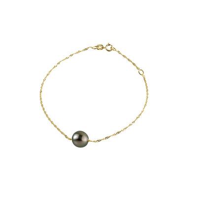 bracelet femme perle noire
