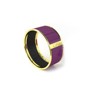 Legend Vogue - Bracelet Bangle Or Jaune Pure LVG Violet