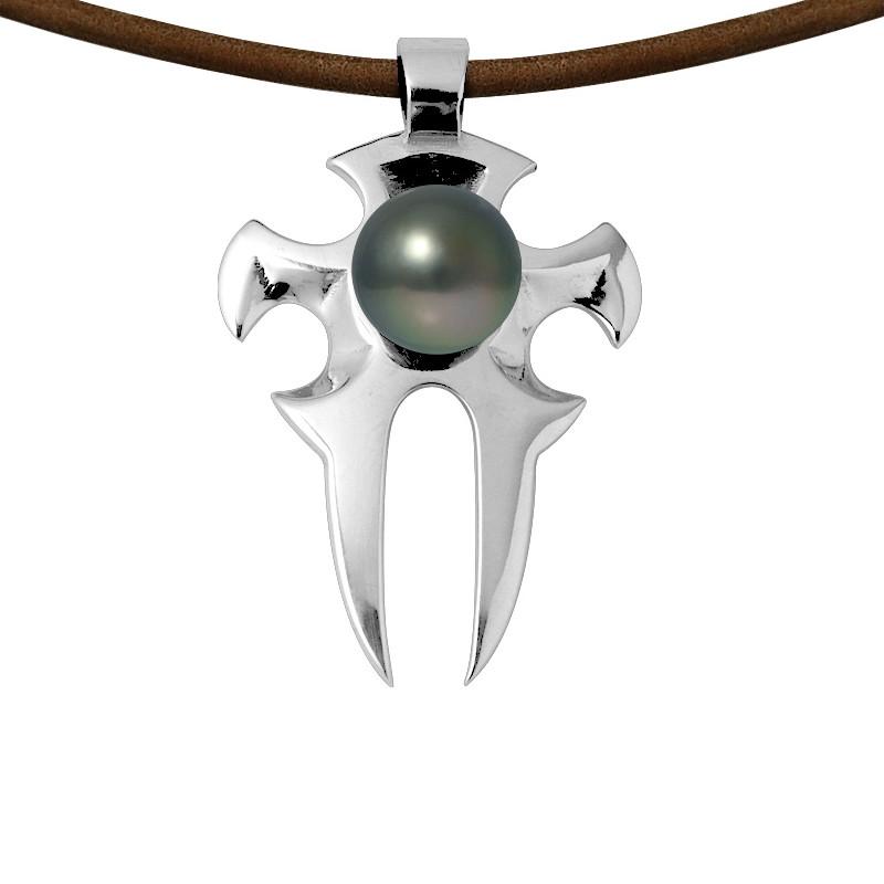 collier homme avec perle
