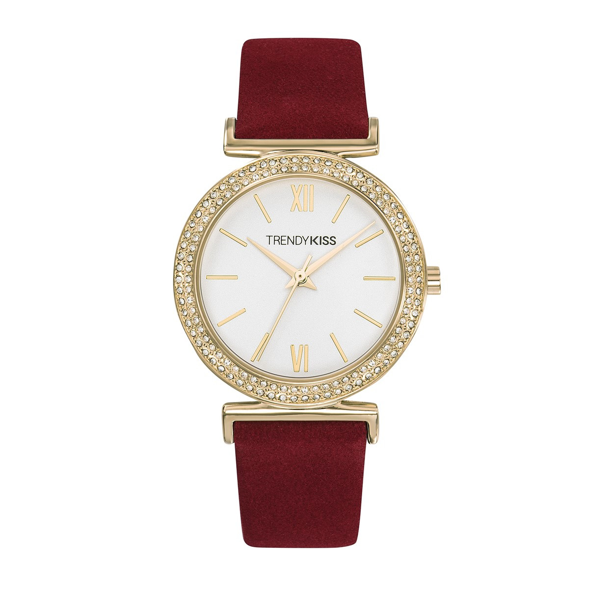 6998a55471 Montre femme Trendy Kiss Rose bracelet cuir véritable - Femme ...