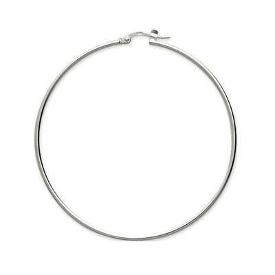 01b2cc00f303e Boucles d oreilles Brillaxis créoles argent 50 mm - Femme - Autres ...