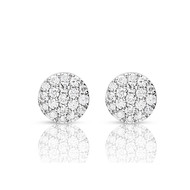Boucles d'oreilles One More pavage rond diamants