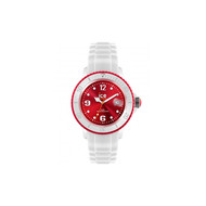 Montre Ice Watch Ice-White Blanc/Rouge Big
