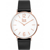 Montre Ice Watch City Tanner pvd rose et cuir noir (ICE WATCH)