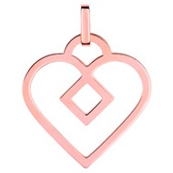 Pendentif Brillaxis Beguin grand coeur or rose