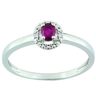 Bague rubis et diamants en or 9 carats (BRILLAXIS)
