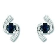 Boucles d'oreilles Brillaxi saphirs diamants or