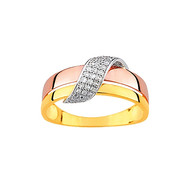 Bague Brillaxis 3 ors 9 carats diamants (BRILLAXIS)