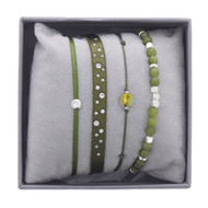 Bracelets Les Interchangeables Strass Box New Scintillement Vert Kaki (LES INTERCHANGEABLES)
