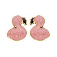 Boucles enfant Brillaxis flamants roses