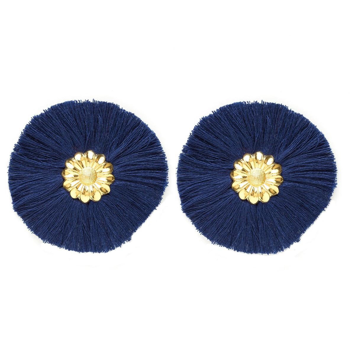 boucle d'oreille bleu marine femme