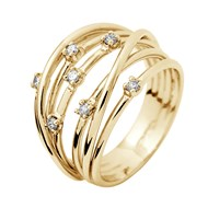 Bague Satellite Joaillerie Prestige - Diamants - Or Jaune