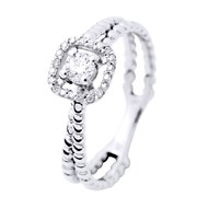 Bague Joaillerie Solitaire Prestige - Or Blanc