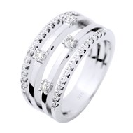 Bague Satellite Joaillerie Prestige - Diamants  - Or Blanc