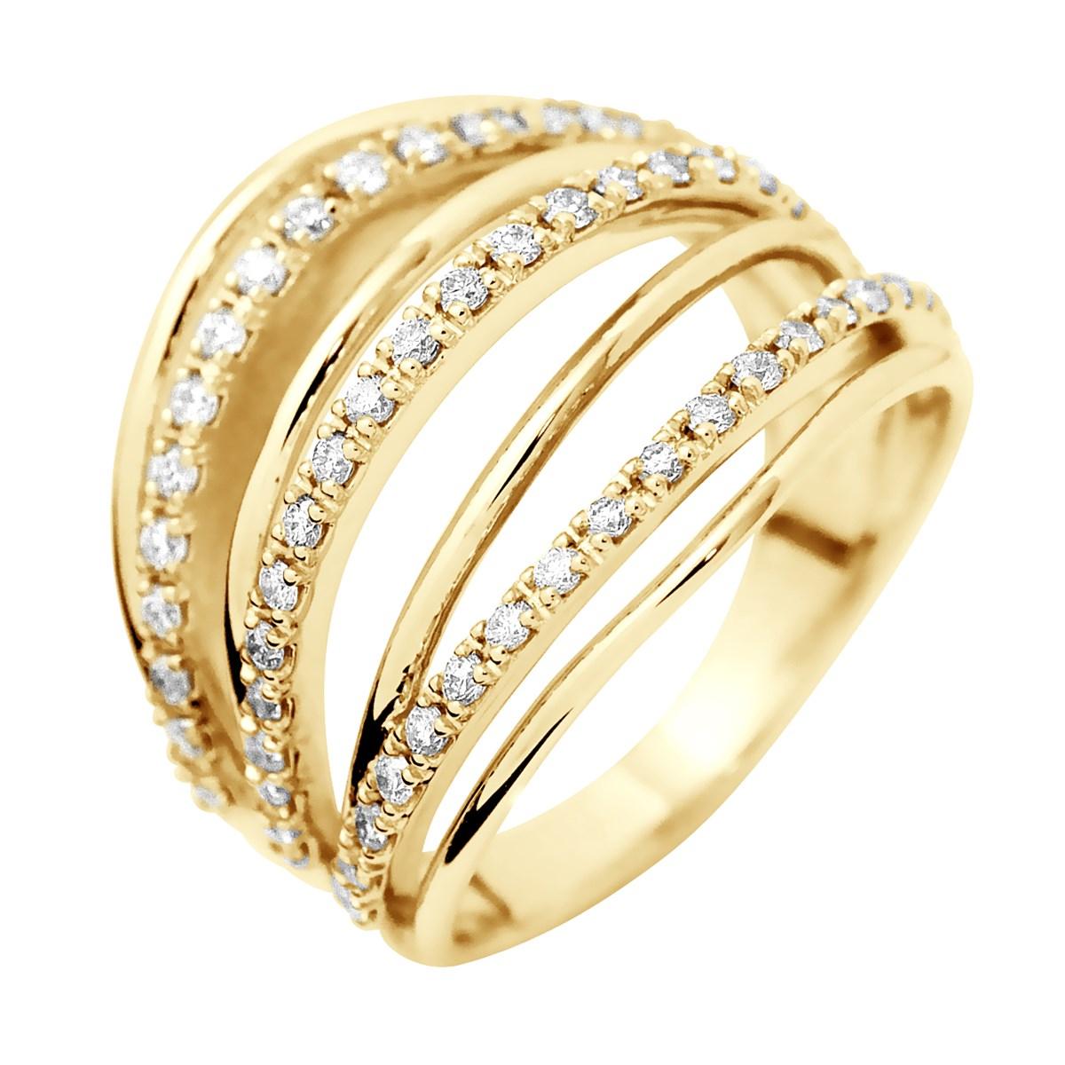 vente chaude en ligne 5bccd 3e5f8 Bague Pavage Joaillerie Prestige - Diamants - Or Jaune