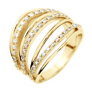 Bague Pavage Joaillerie Prestige - Diamants - Or Jaune