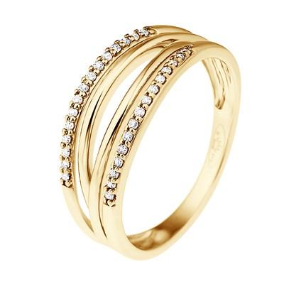 profiter de prix pas cher grandes variétés artisanat de qualité Bague Jonc Double Diamants - Or Jaune