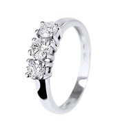 Bague 'TRILOGY' Diamants - Or Blanc