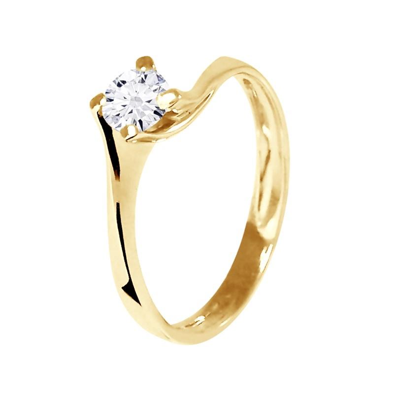 bague solitaire diamant et or jaune