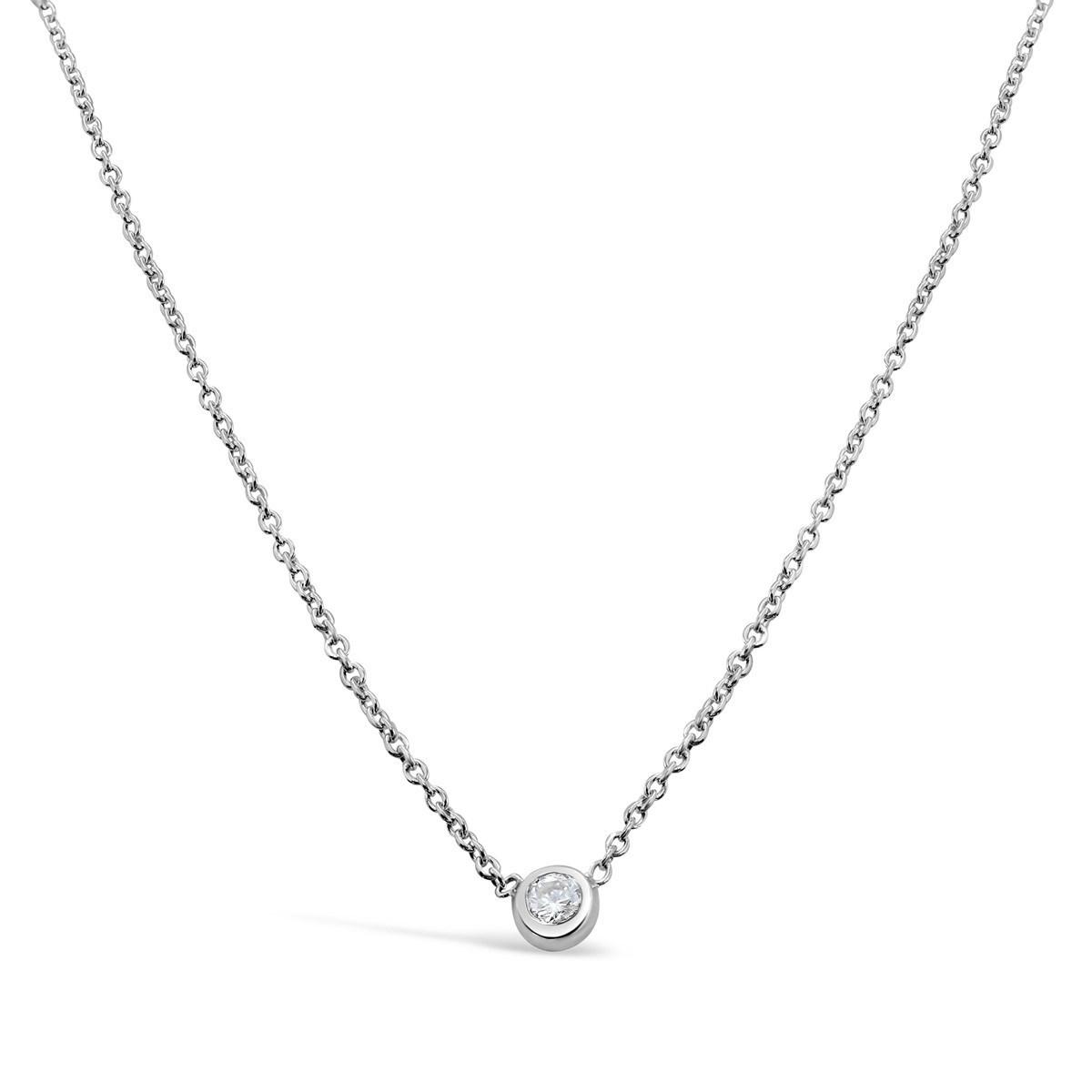 collier argent zirconium