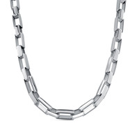 Collier maille rectangle grand modèle