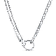 Collier fermoir mousqueton S Argent 925