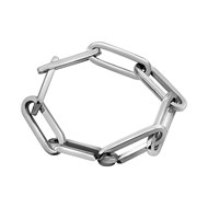 Bracelet maille rectangle XL Argent 925