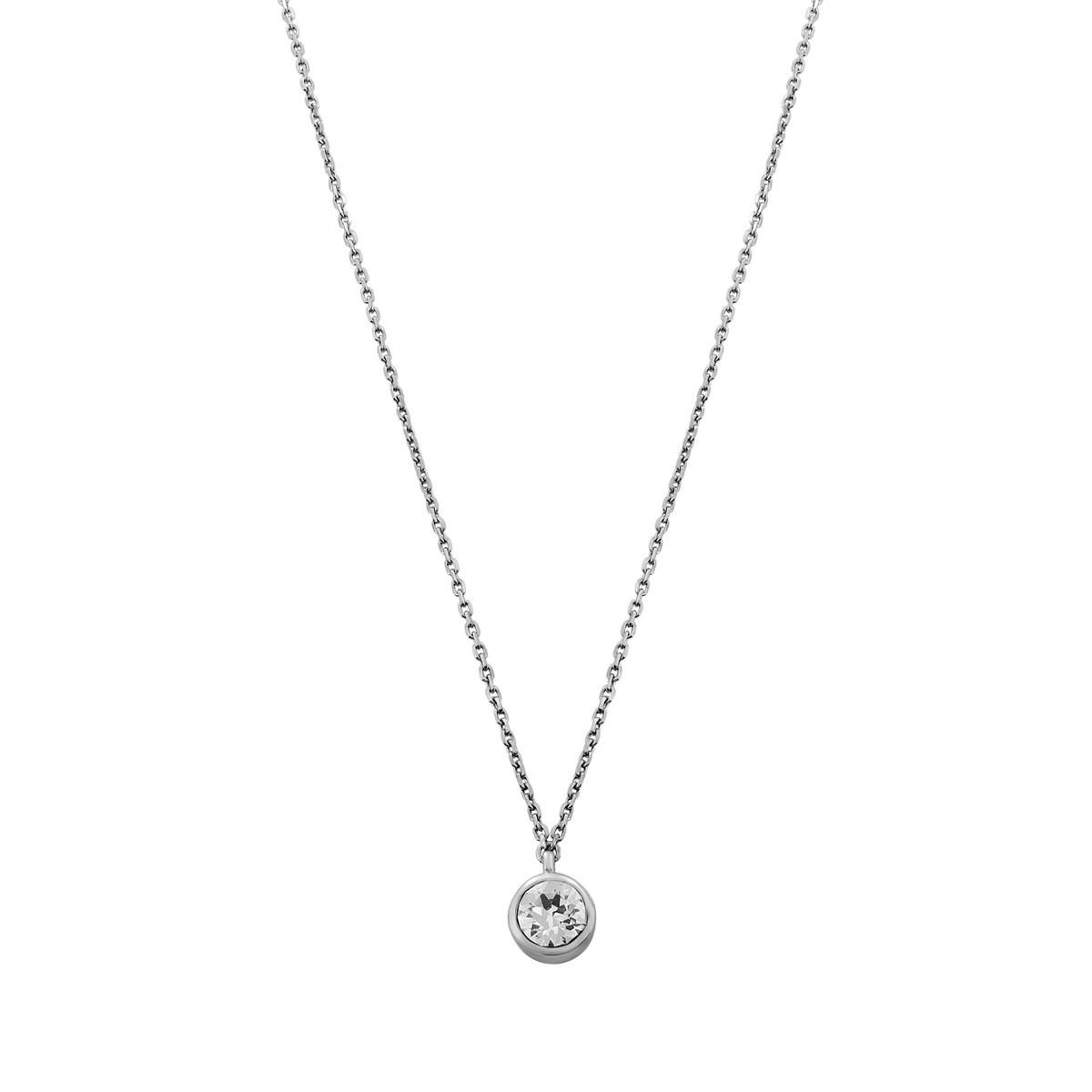 collier ras de cou argent zirconium
