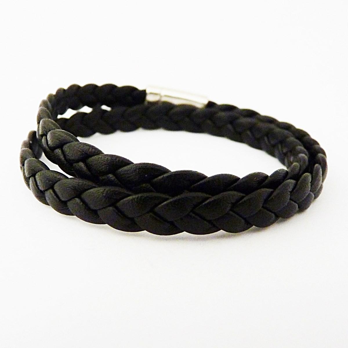 bracelet homme tresse cuir