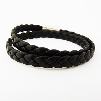 Bracelet homme noir or