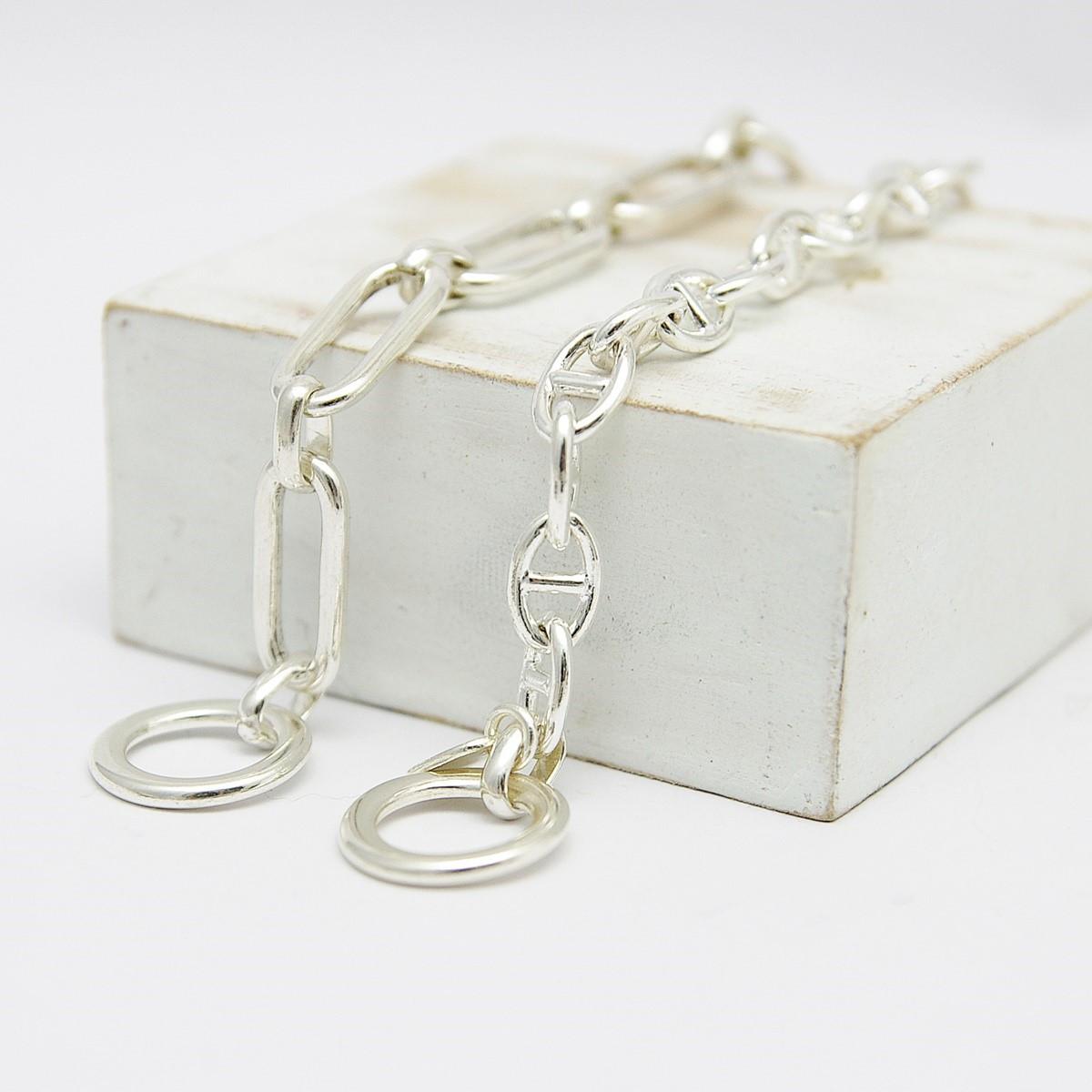 32e2b54c186 Bracelet chaîne ancre marine argent - Femme - Bracelet souple
