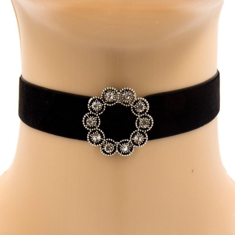 collier ras de cou velour noir