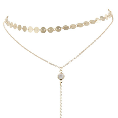 93487a579c8e6 Collier ras de cou multichaînes dorées - Femme - Collier | MATY