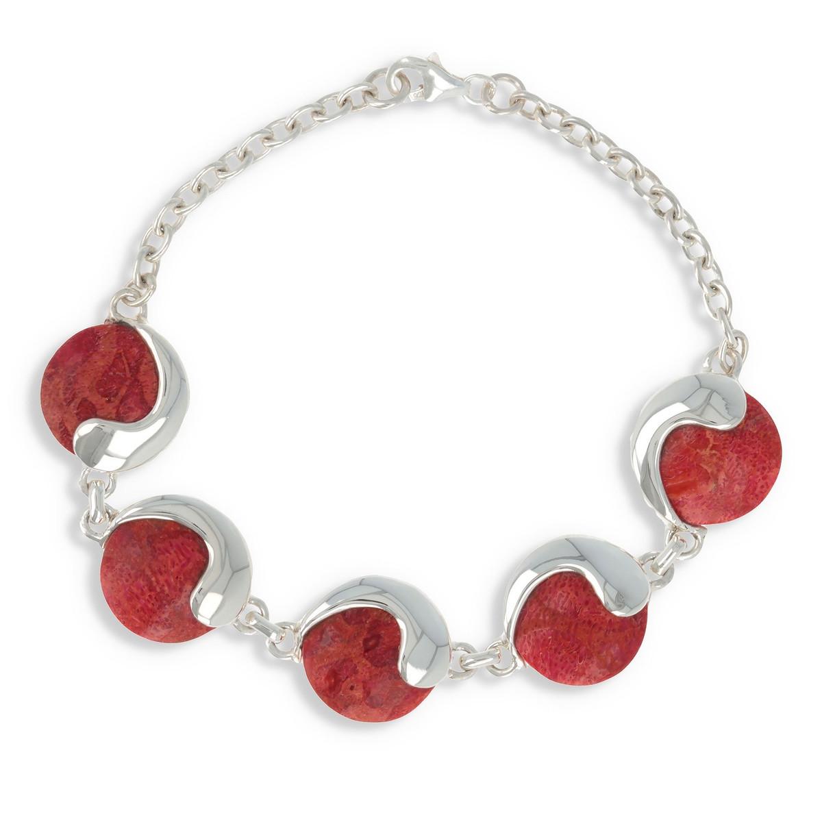 D Virgule Corail Femme Cabochons Ponctués D'une De Bracelet Pour 5 mvN8yPOn0w