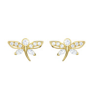 Boucles d'oreilles Swarovski Magnetic Stud Dragonfly
