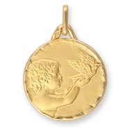 Médaille Brillaxis ange et colombe