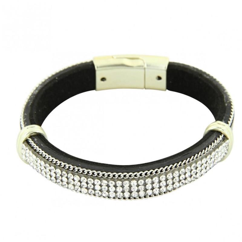 Marron Bracelet Femme Synthétique Incrusté Daphnee KTF1Jcl